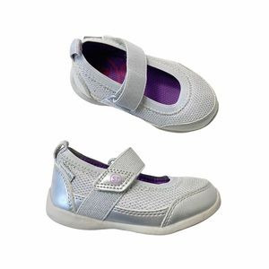 Stride Rite silver Mary Jane sneakers